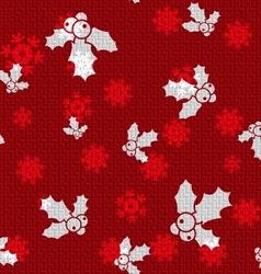 Christmas hollies vector