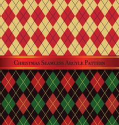 Christmas seamless argyle pattern design set 2 vector