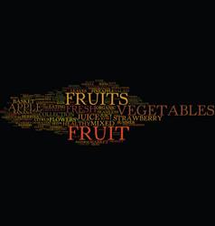 Fruit word cloud concept vector