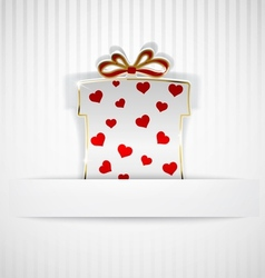 Gift box cut out of paper vector image vector image