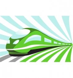 High-speed train vector