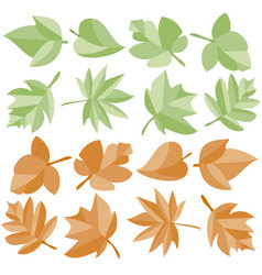 leaves colored vector image
