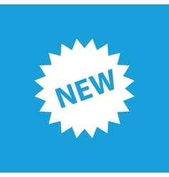 New label icon white vector