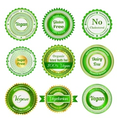 Organic labels badges and stickers vector image