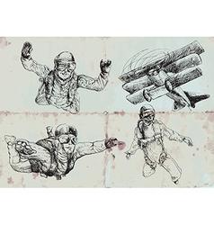 parachutists vector image