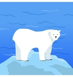 Polar Bear Ursus Maritimus on Piece of Ice vector image