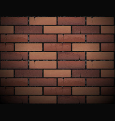 Red brick wall texture background vector