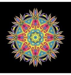 Round Mandala Color Dark 5 vector image vector image
