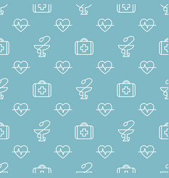 Seamless medical pattern vector