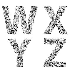 set of letters w x y and vector image vector image