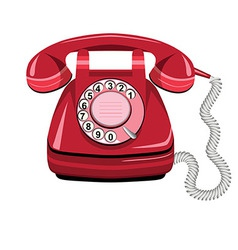 Telephone icon red vector