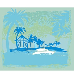 tropical vacation vector image