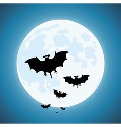 Bats in the night vector