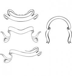 vintage curves vector image