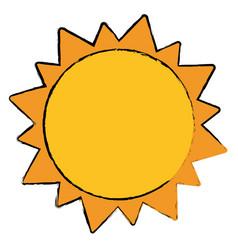 Sun solar system astrology vector