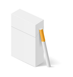 Closed full pack of cigarettes concept design vector