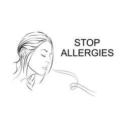 Stop allergies smell vector