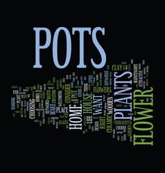 Flower pots text background word cloud concept vector