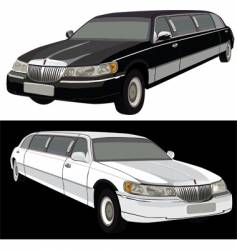 Long limousine vector