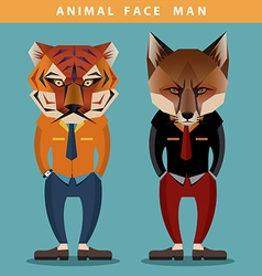 Animal face man vector