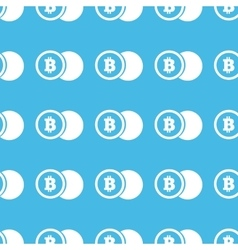 Bitcoin coin straight pattern vector