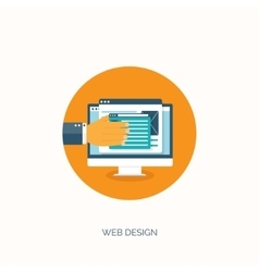 Web design flat computing vector