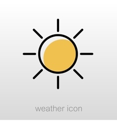 Sun icon meteorology weather vector
