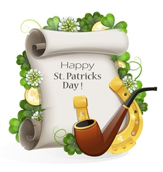 St patricks day placard vector