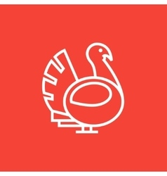 Turkey line icon vector image