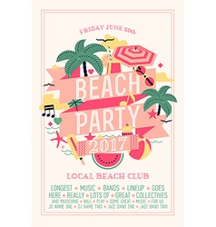 Beach party poster vector