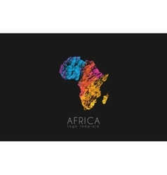 Abstract africa logo Color Africa logo Colorful vector image vector image