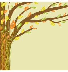 Abstract tree of life in soft colors vector image vector image