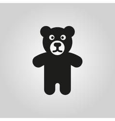Bear icon design Toy symbol web graphic AI vector image vector image
