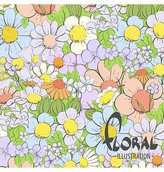 Beautiful summer flowers vector image