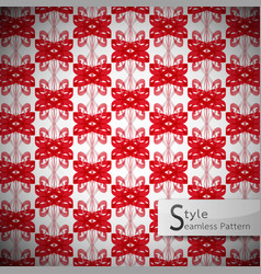Bow ribbon red mesh vintage geometric seamless vector