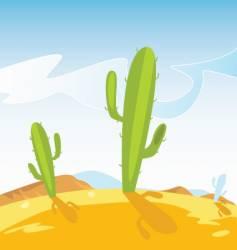 cactus plants vector image vector image