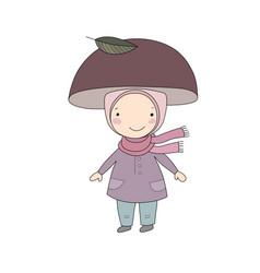 cute little gnome mushroom for children design vector image vector image