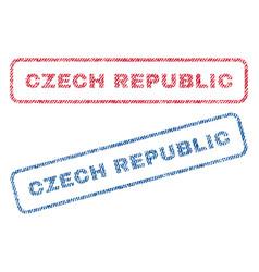 Czech republic textile stamps vector