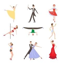 Dancing Styles Flat design vector image