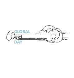 global wind day isolated on vector image vector image