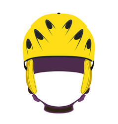 Helmet for ski snowboarding extreme sports bicycle vector
