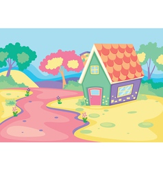 house in nature vector image