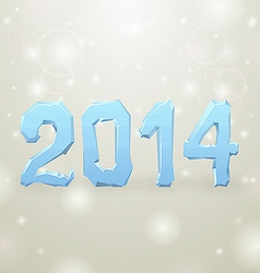 Ice New Year white background 2014 vector image vector image