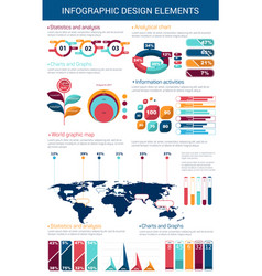 Infographic design element with graph and chart vector