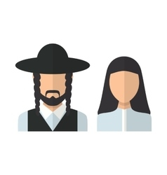 Judaic man and woman vector