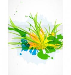 modern floral background vector image vector image