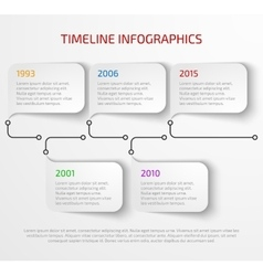 Modern timeline infographic vector image vector image