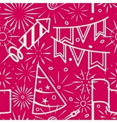 Pink party celebration seamless background vector image vector image
