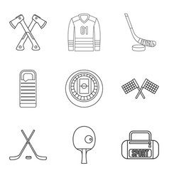 Preparation icons set outline style vector