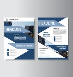 Purple corporate leaflet brochure flyer template vector